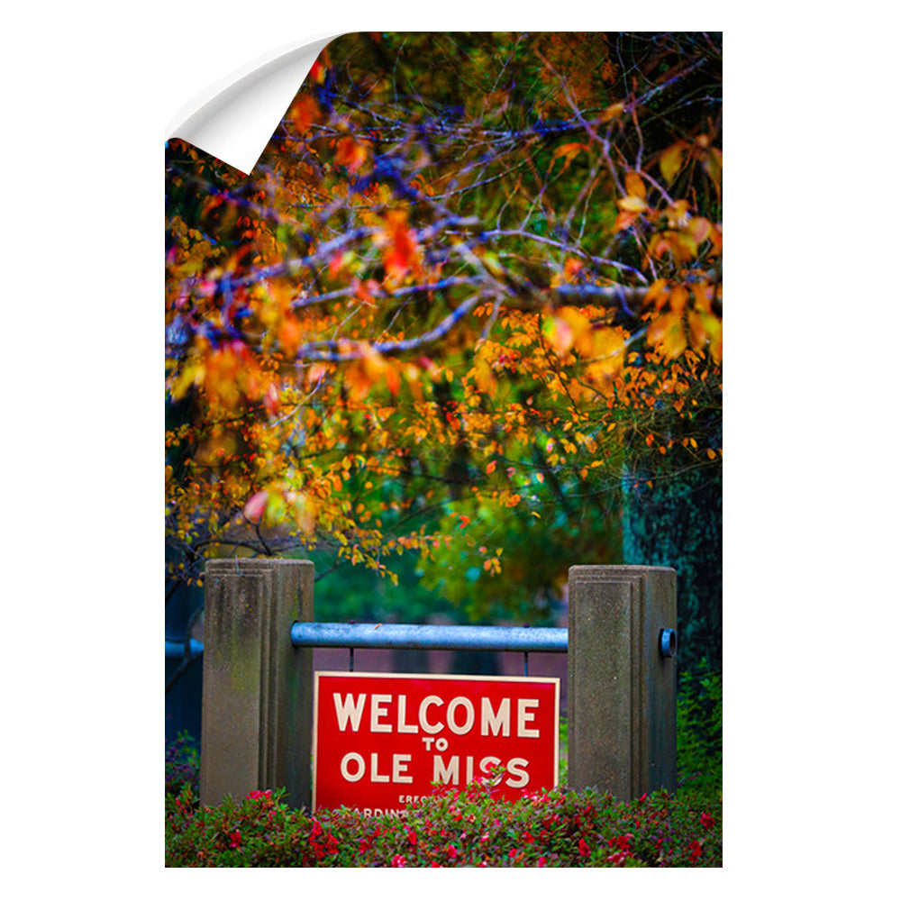 Ole Miss Rebels - Welcome to Ole Miss - College Wall Art #Canvas