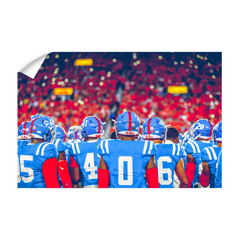 Ole Miss Rebels - All Powder - College Wall Art #Canvas
