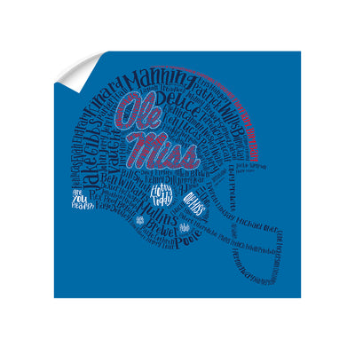 Ole Miss Rebels - Ole Miss Greats - College Wall Art #Wall Decal