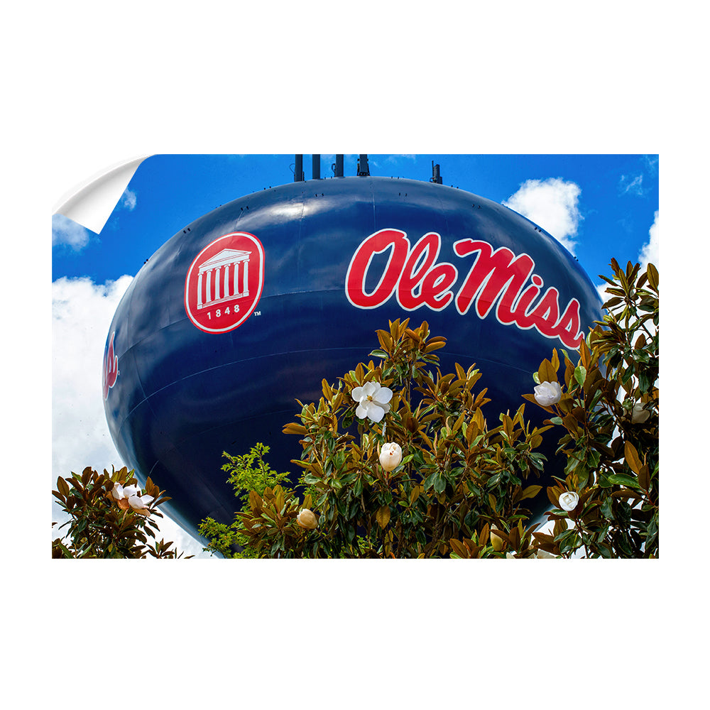Ole Miss Rebels - Water Tower Magnolia - College Wall Art #Canvas