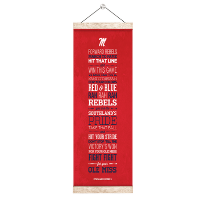 Ole Miss Rebels - Fight Song - College Wall Art #Hanging Canvas
