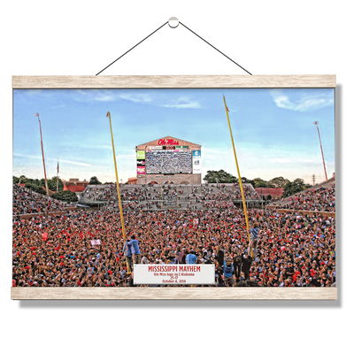 Ole Miss Rebels - Mississippi Mayhem - College Wall Art #Hanging Canvas