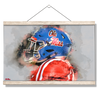 Ole Miss Rebels - Ole Miss Watercolor - College Wall Art #Hanging Canvas