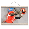 Ole Miss Rebels - Ole Miss Watercolor Catch - College Wall Art #Hanging Canvas