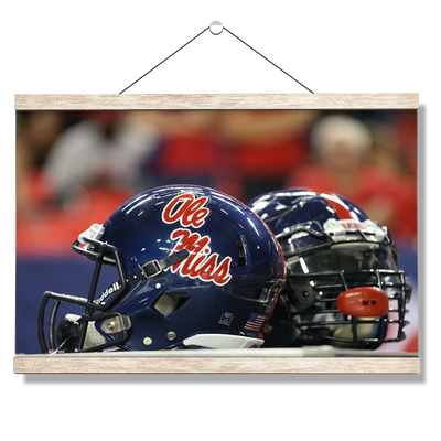 Ole Miss Rebels - Ole Miss Helmet - College Wall Art #Hanging Canvas