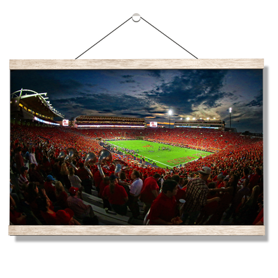 Ole Miss Rebels - Sunset Over Vaught-Hemingway - College Wall Art #Hanging Canvas