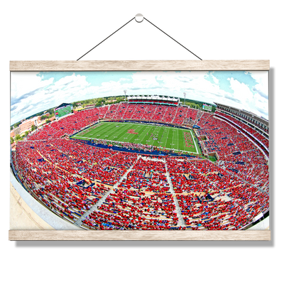 Ole Miss Rebels - Red Out - College Wall Art #Hanging Canvas