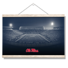 Ole Miss Rebels - Vaught Hemingway Night - College Wall Art #Hanging Canvas