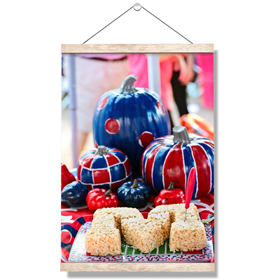 Ole Miss Rebels - Mississippi Pumpkin - College Wall Art #Hanging Canvas