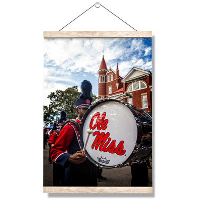 Ole Miss Rebels - Ole Miss Come Marching In - College Wall Art #Hanging Canvas