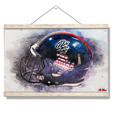 Ole Miss Rebels - Military Appreciation Day Helmet - College Wall Art #Hanging Canvas