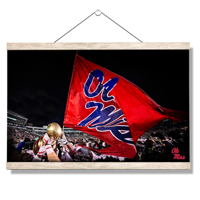 Ole Miss Rebels - Egg Bowl Victory - College Wall Art #Hanging Canvas