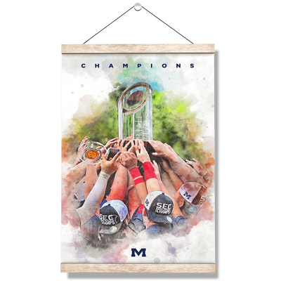 Ole Miss Rebels - SEC Champs Paint - College Wall Art #Hanging Canvas