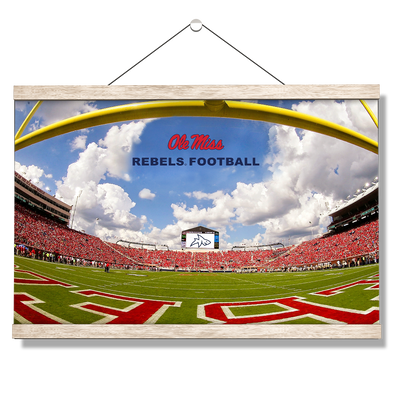 Ole Miss Rebels - End Zone Rebel Football - College Wall Art #Hanging Canvas