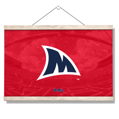 Ole Miss Rebels - Fins Up M - College Wall Art #Hanging Canvas