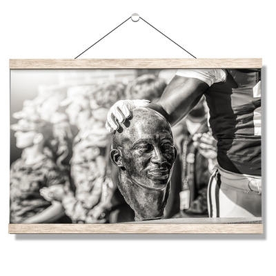 Ole Miss Rebels - Never Quit B&W - College Wall Art #Hanging Canvas