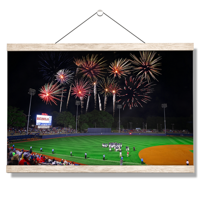 Ole Miss Rebels - More Fireworks Over Swayze - College Wall Art #Hanging Canvas