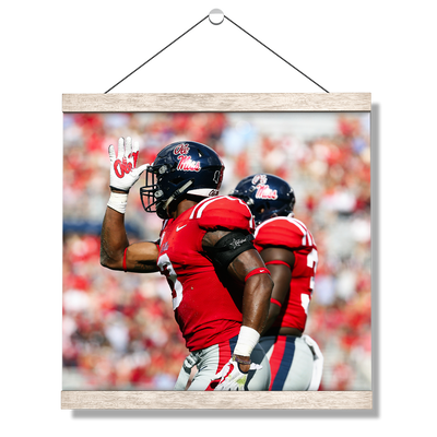 Ole Miss Rebels - Fins Up - College Wall Art #Hanging Canvas