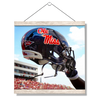 Ole Miss Rebels - Ole Miss Helmet Held High - College Wall Art #Hanging Canvas