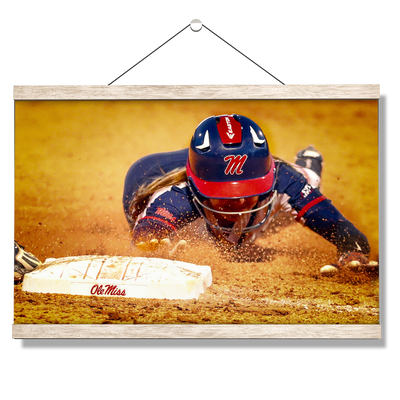 Ole Miss Rebels - Softball Safe - College Wall Art #Hanging Canvas