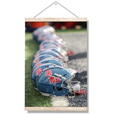 Ole Miss Rebels - Ole Miss Football Helmets - College Wall Art #Hanging Canvas