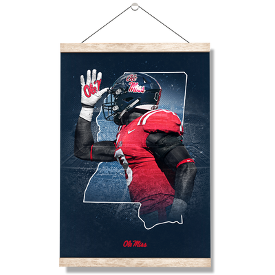Ole Miss Rebels - Landshark State - College Wall Art #Hanging Canvas