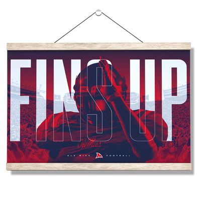 Ole Miss Rebels - Fins Up Ole Miss Football - College Wall Art #Hanging Canvas