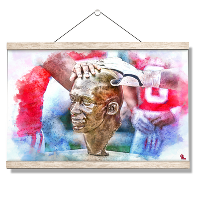 Ole Miss Rebels - Never Quit Watercolor - College Wall Art #Hanging Canvas