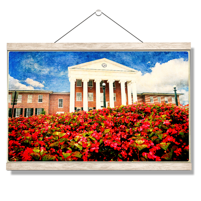 Ole Miss Rebels - Lyceum Paint - College Wall Art #Hanging Canvas