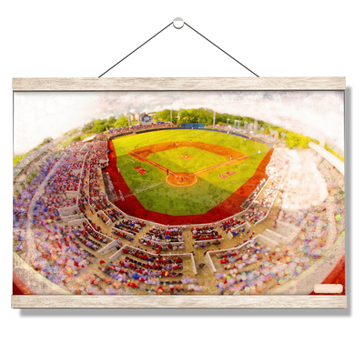 Ole Miss Rebels - Rebels Swayze Field Art - College Wall Art #Hanging Canvas