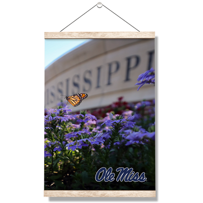 Ole Miss Rebels - Ole Miss Blue - College Wall Art #Hanging Canvas