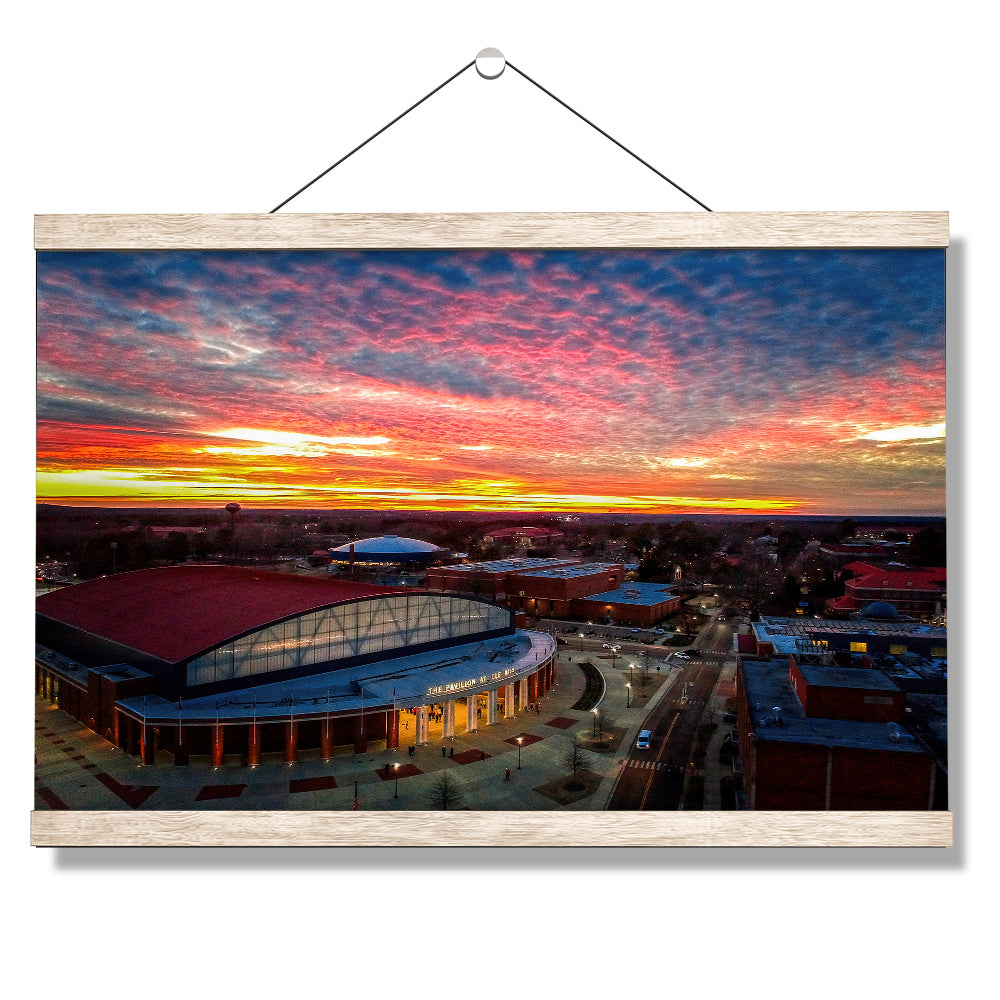 Ole Miss Rebels - Pavilion Sunset - college wall art #Canvas
