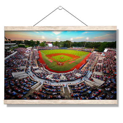 Ole Miss Rebels - Swayze Sunset - College Wall Art #Hanging Canvas