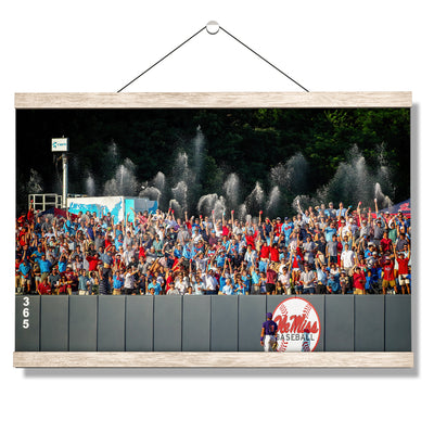 Ole Miss Rebels - Ole Miss Baseball Shower - College Wall Art #Hanging Canvas