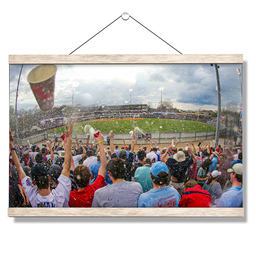 Ole Miss Rebels - Oxford Shower - College Wall Art #Canvas
