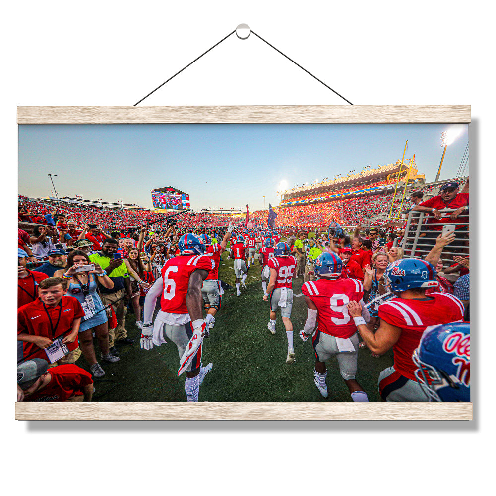Ole Miss Rebels - Running Onto the Field - College Wall Art #Canvas