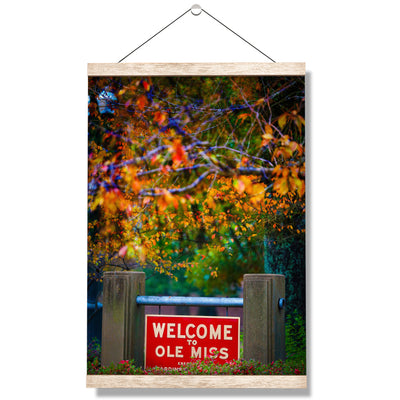 Ole Miss Rebels - Welcome to Ole Miss - College Wall Art #Hanging Canvas