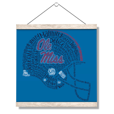 Ole Miss Rebels - Ole Miss Greats - College Wall Art #Hanging Canvas
