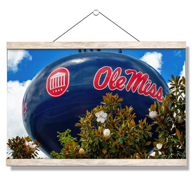 Ole Miss Rebels - Water Tower Magnolia - College Wall Art #Hanging Canvas