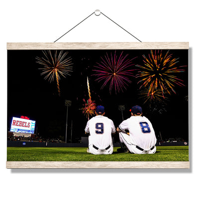 Ole Miss Rebels - Ole Miss Baseball Fireworks -College Wall Art #Hanging Canvas