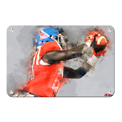 Ole Miss Rebels - Ole Miss Watercolor Catch - College Wall Art #Metal