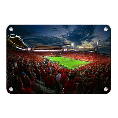 Ole Miss Rebels - Sunset Over Vaught-Hemingway - College Wall Art #Metal