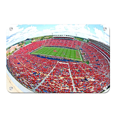 Ole Miss Rebels - Red Out - College Wall Art #Metal