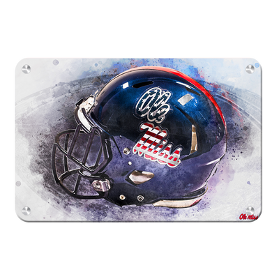 Ole Miss Rebels - Military Appreciation Day Helmet - College Wall Art #Metal