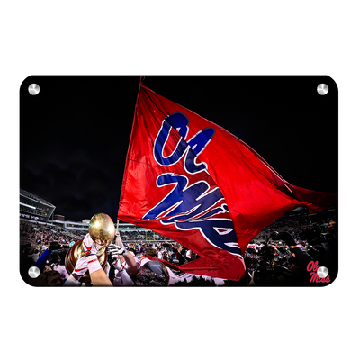 Ole Miss Rebels - Egg Bowl Victory - College Wall Art #Metal