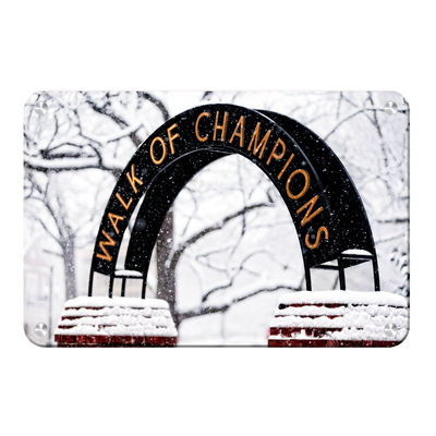 Ole Miss Rebels - Snowy Day Walk of Champions - College Wall Art #Metal