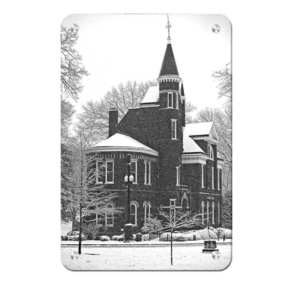 Ole Miss Rebels - Snow Day Ventress Hall - College Wall Art #Metal