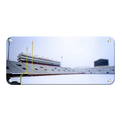 Ole Miss Rebels - Snow Day Vaught Hemingway Pano - College Wall Art #Metal