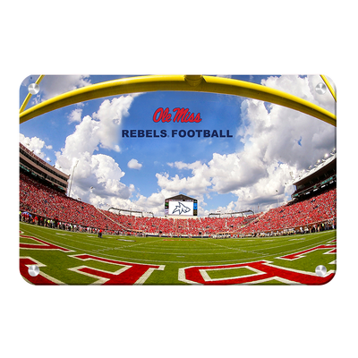 Ole Miss Rebels - End Zone Rebel Football - College Wall Art #Metal