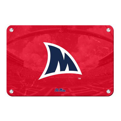 Ole Miss Rebels - Fins Up M - College Wall Art #Metal
